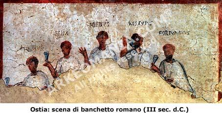 Alimentazione dei romani la cucina romana il banchetto a for Cucina romana antica