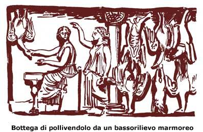 Οι συνταγές και το μαγείρεμα στην αρχαία Ρώμη: η αναπαραγωγή ενός εργαστηρίου ενός πωλητές πουλερικών (από μάρμαρο ανάγλυφο)