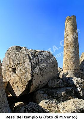 Selinunte, collina est: i giganteschi rocchi delle colonne del Tempio G